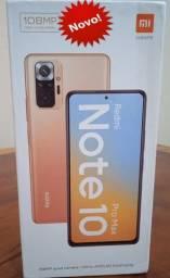 Título do anúncio: Redmi Note 10 Pró Max 6Ram 128GB Câmera 108MP Novo na Caixa Lacrada