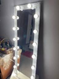 Espelho camarim 16 lâmpadas