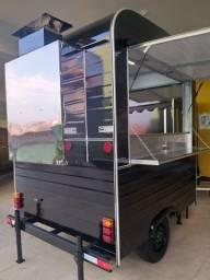 Trailer Food Truck com churrasqueira Pronta Entrega 2021 Espetinhos / Churrasco