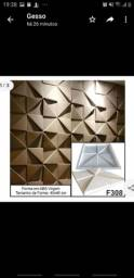 Placa decorativa de gesso 3D 40x40