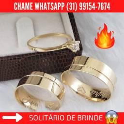 Alianças de Moeda+Solitário de Brinde Whatsapp Abaixo