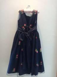 Título do anúncio: Vestido Infantil Longo Azul Marinho