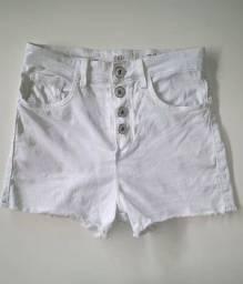Short pool jeans Branco