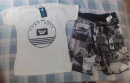 Kit de camisa estampa + short