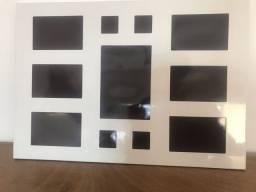 Painel de parede branco para 11 fotos com imã