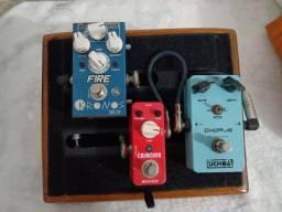 Set pedais pedalboard completo