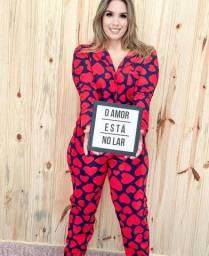 Pijama Americano Feminino - Coração