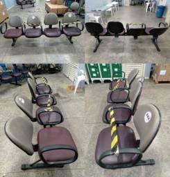 Cadeiras de 3, 4 e 5 lugares