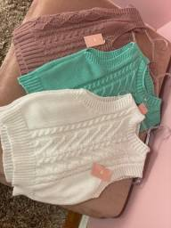 Colete Suéter tricot feminino