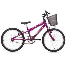 Bicicleta aro 20 para menina kiss Free Action