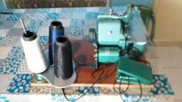 Máquia de costura overlock semi-industrial portátil Facil Tec