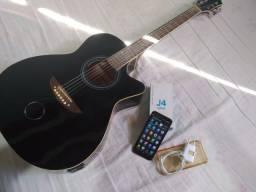 Samsung j4 core modelo 2020 + violão Austin kouthon Aço Folk Elétrico