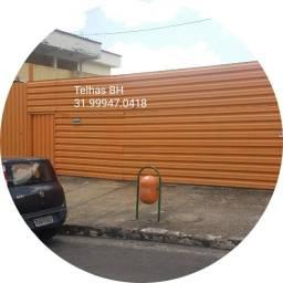 Título do anúncio: Telhas Tapumes Zinco - T.A.P.U.M.E.. cercar lote bh, galvanizada zp98655.3039