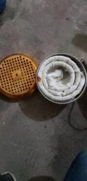 Sauna real antiquário em funcionamento