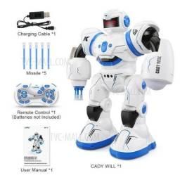 Robo de controle remoto Fala Dança Atira dardos Anda Canta Excelente Brinquedo