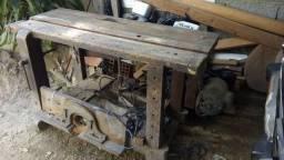 Serra circular carpinteiro com tupia acoplada