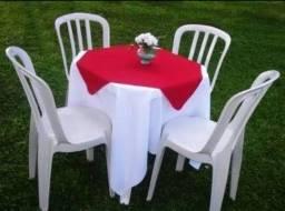 Locação de mesas e cadeiras $10,00 o jogo pague c/cartão:visa,master,hiper,elo 99854-1602
