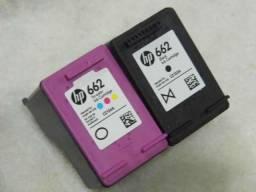 Cartuchos originais HP 662 Color / Preto vazios usados só uma carga