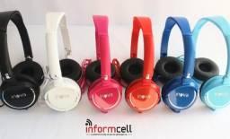 Fone de Ouvido/Headphone c/ Botão de Chamada e Microfone