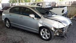 Civic Lxs Automático Acidentado - 2008