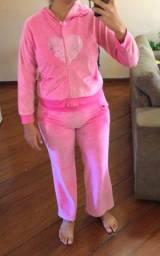 Conjunto de frio rosa