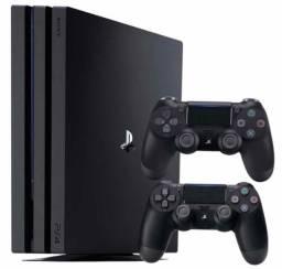 PS4 pro com 2 controles + GTA V