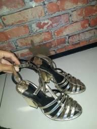 Sandalia Schutz 36 Dourada