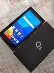 LG Q6 3/32gb semi novo completo Troco