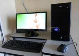 Computador AMD - Monitor 19 - 4GB memória 250 HD