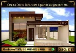 Casa com 3 quartos no Central Park 2, sombra, área gourmet, lote com 300m