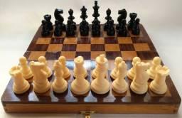 Jogo de Xadrez tabuleiro dobrável (Estojo)