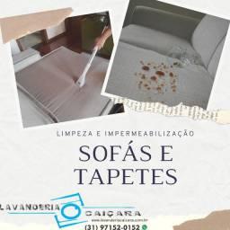 Limpeza e Impermeabilização de Sofá e Tapete