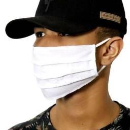 Máscara de Proteção de Tecido Respiratória Lavável Tricoline Algodão Reutilizável