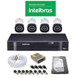 Kit 4 Câmeras Intelbrás HD R$1499,99