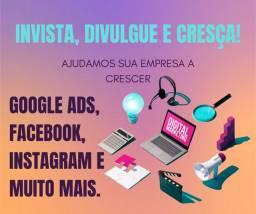 Gerenciamento de mídias sociais e Google Ads