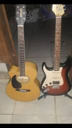 Violão e Gitarra semi novos
