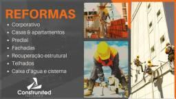 Construção, reformas prediais e residenciais