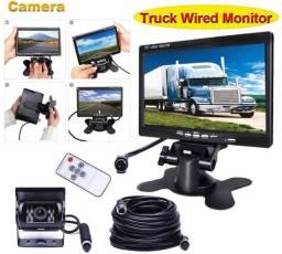 """Monitor 7"""" LCD com 2 camera de ré"""