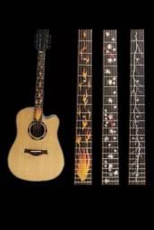 Adesivos para braço de violão e guitarra