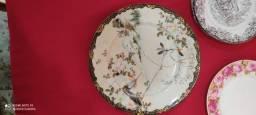Pratos decorativos colecionador japonês/ francês/bávaro porcelana