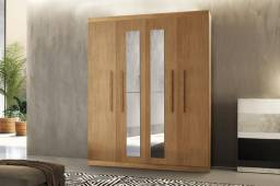 Guarda Roupa Espanha 4 portas com espelho XV