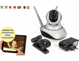 Câmera IP, 2 Antenas, Babá Eletrônica Wifi, Visão Noturna