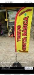Título do anúncio: Wind Banner flag biruta R$100 completo