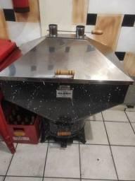 Churrasqueira carvão/gás 60kg costela inox