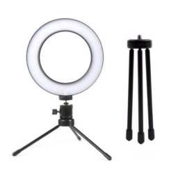 Ring Light Led Mesa Iluminador Mini Tripé 6 Polegada 16cm