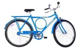 Bicicleta monark aro 26 barra circular fi azul relíquia usada