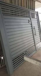 Portão Basculante Galvanizado 3.30x2.50