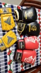 Luvas de boxe pretorian 12oz mais luva de MMA