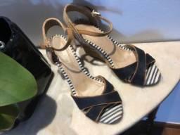Linda sandália de espadrille com listras