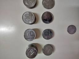 Moedas de 5...10...20..50 Cruzeiros 1981...Lote com 60 moedad